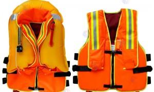气胀式复合消防救生衣